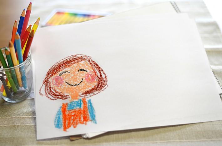 子供が描いたお母さんのイラスト