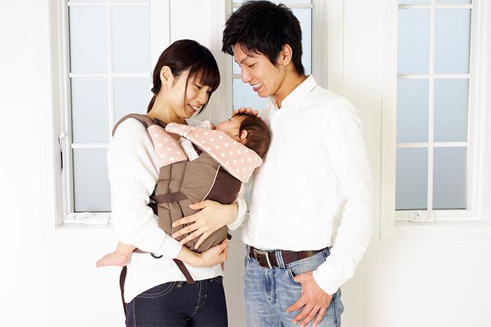 赤ちゃんがいる家族