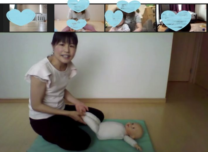 赤ちゃんとママが仲良くなれる・ベビーマッサージ体験